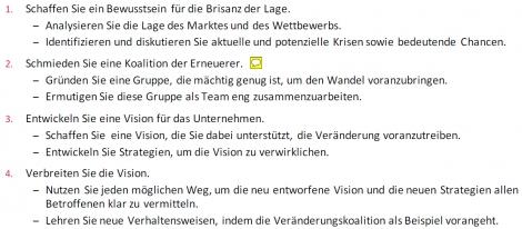 3c Der Change-Prozess nach Kotter | Karteikarten online ...