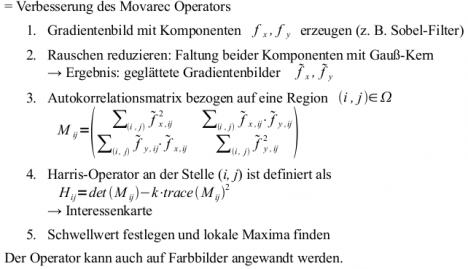 Wie funktioniert der Harris-Corner-Detektor (Harris-Punkt-Detektor ...